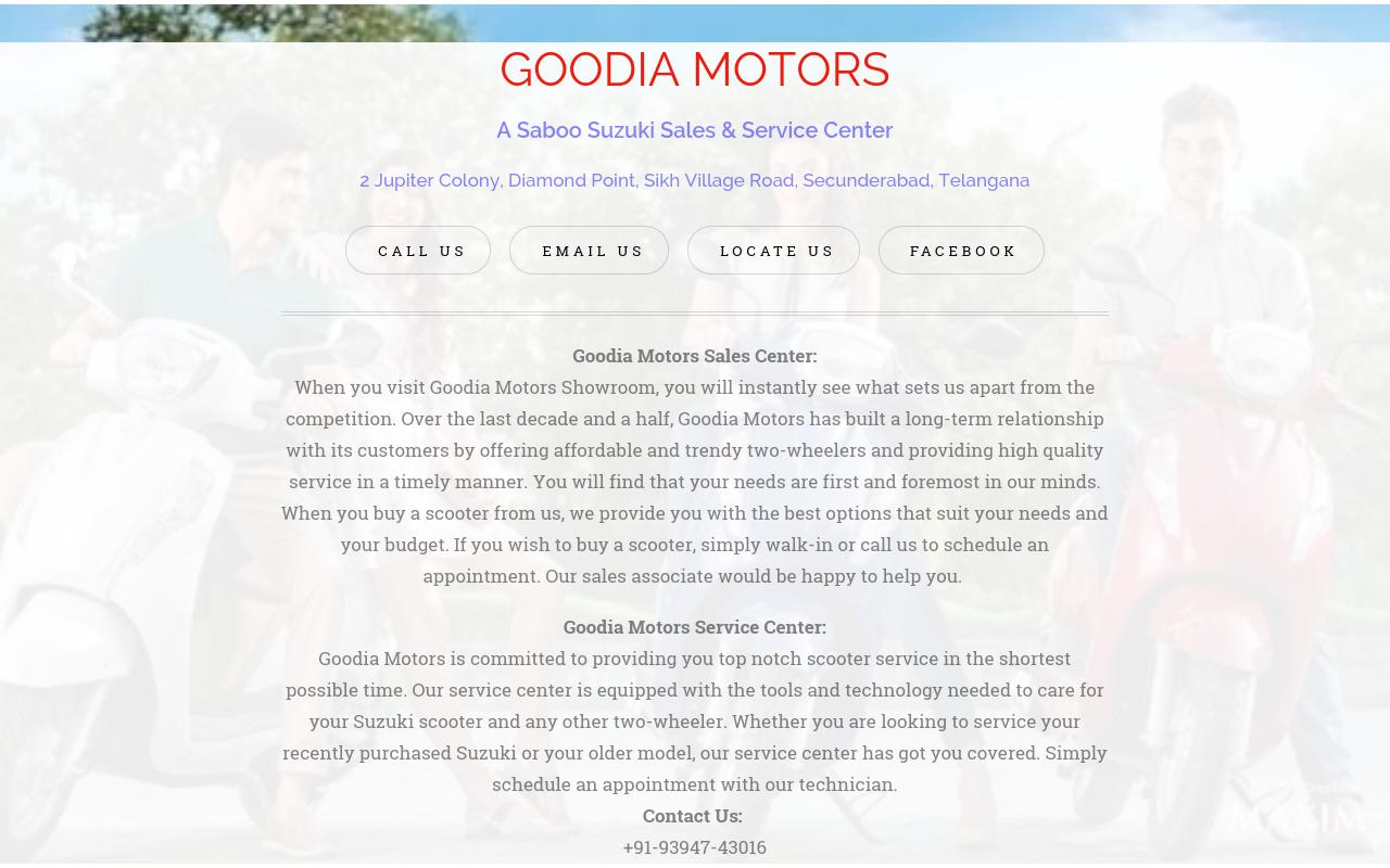 Goodia Motors Secunderabad - A Suzuki Dealership